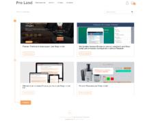 Профессиональный лендинг — Настройка для приложения Блог