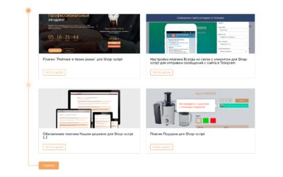 Профессиональный лендинг — отсутсвует тема в приложение Блог