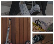 Быстрая покупка — Плитка с категориями на главной странице