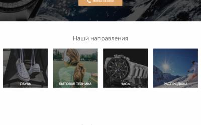 Профессиональный лендинг — Плитка с категориями на главной странице
